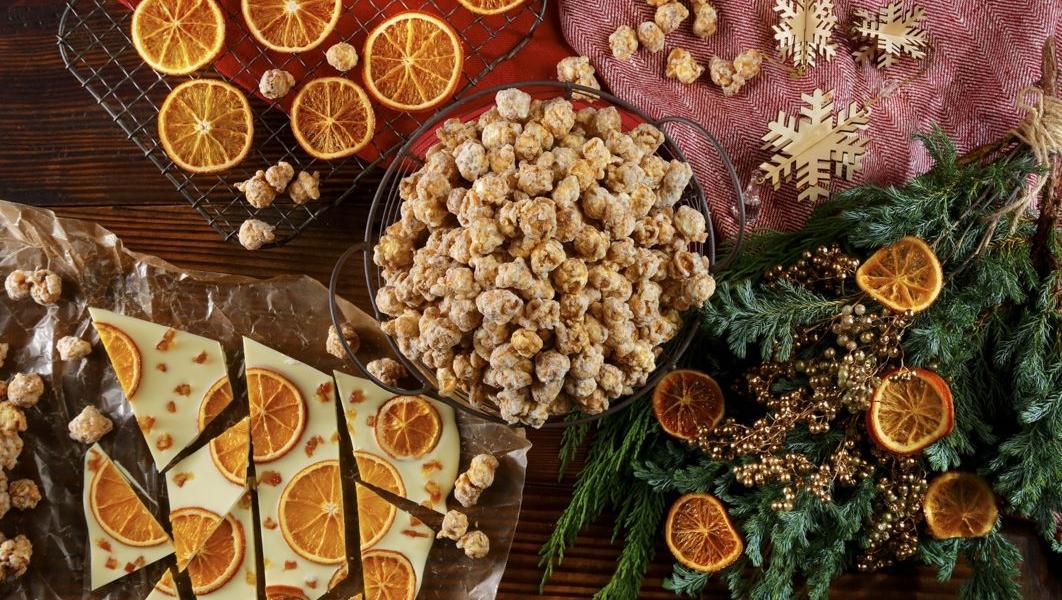 garret popcornホワイトチョコレートオランジェットキャラメルクリスプ スタイリング